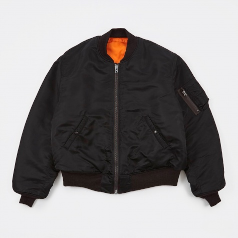 x Buzz Ricksons Reversible MA-1 Bomber Jacket - Black