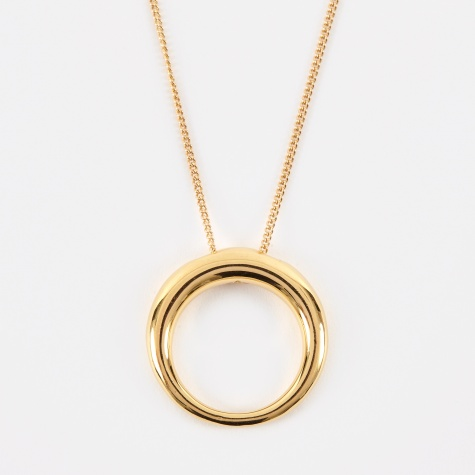 Medium Rising Tusk Necklace - 14K Yellow Gold