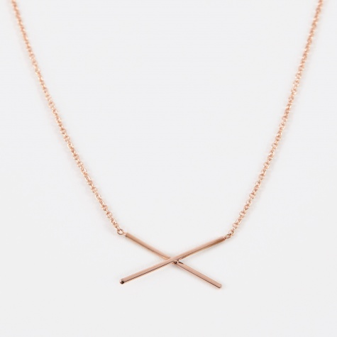 X Necklace - Rose Gold