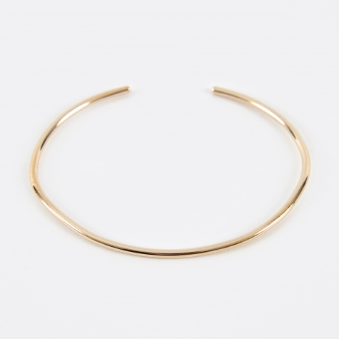 Subtle Band Cuff - 14K Yellow Gold Plated