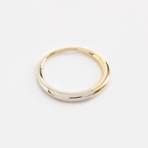 Two Tone Eternal Ring - 14K Yellow Gold