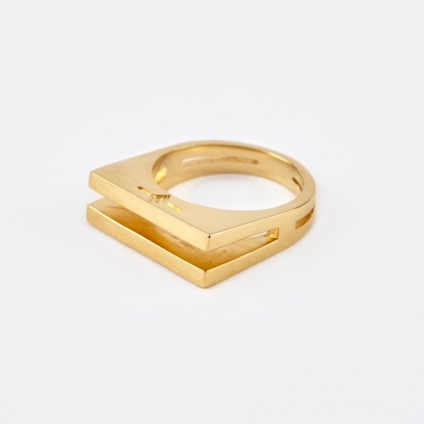 Parallel Ring - 14K Yellow Gold Plated