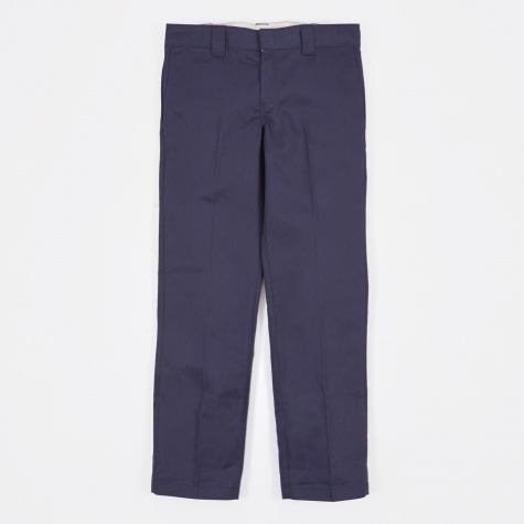Slim Straight Work Pant - Navy Blue
