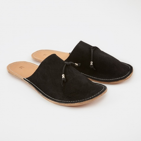 Home Slippers Suede - Black