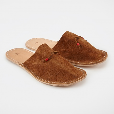 Home Slippers Suede - Tan