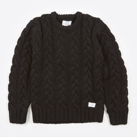 Fisherman Crew Knit - Black