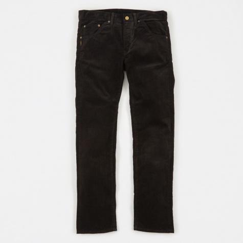 Corduroy Narrow Pants - Black