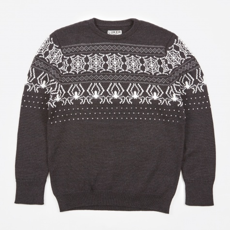Luker by Neighborhood Web Crew Knit - Black