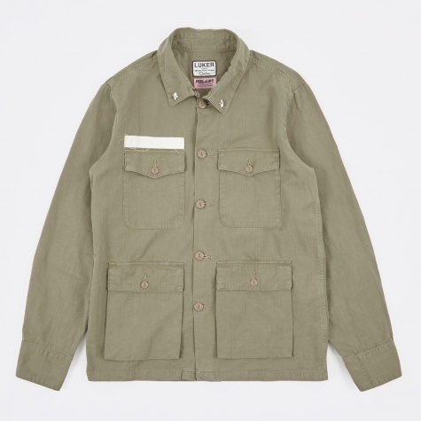 Luker by Neighborhood x Peel & Lift Communist Shirt - Olive Drab