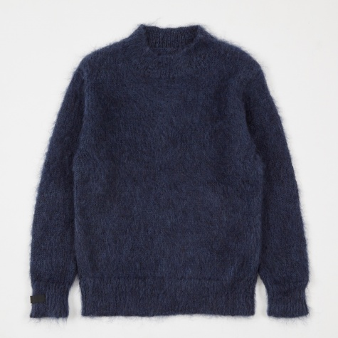 Luker by Neighborhood x Peel & Lift Mohair Knit - Navy