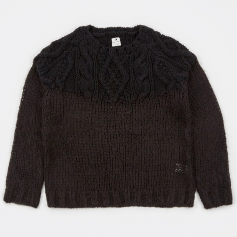 Mohair Fisherman Knit - Black