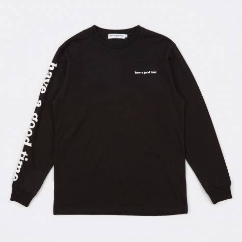 Arm Side Logo LS T-Shirt - Black
