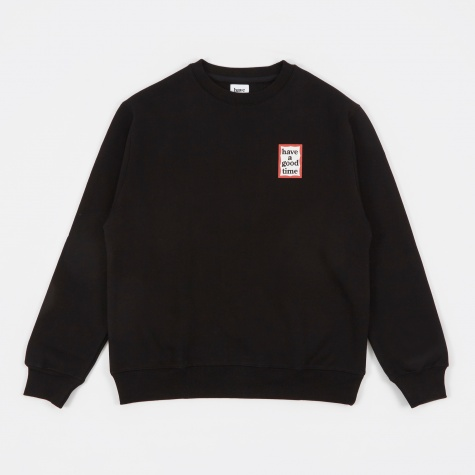 Mini Frame Crew Neck - Black