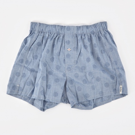 Chambray Dots Boxer Short - Indigo