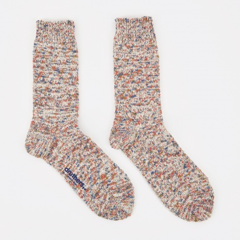 Recycled Yarn Melange Socks - Oatmeal