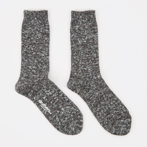 Recycled Yarn Melange Socks - Black