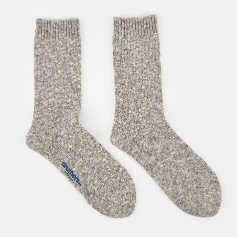 Recycled Yarn Melange Socks - Grey