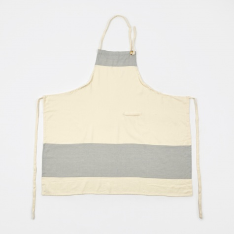 Stripes Apron Long - Whisper White/Light Grey