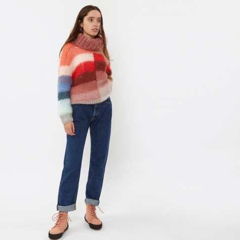 Multicoloured Turtleneck Sweater - Multicolour