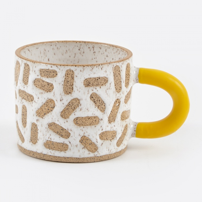 Recreation Center Rubber-Dipped Raw Mark Mug (Image 1)