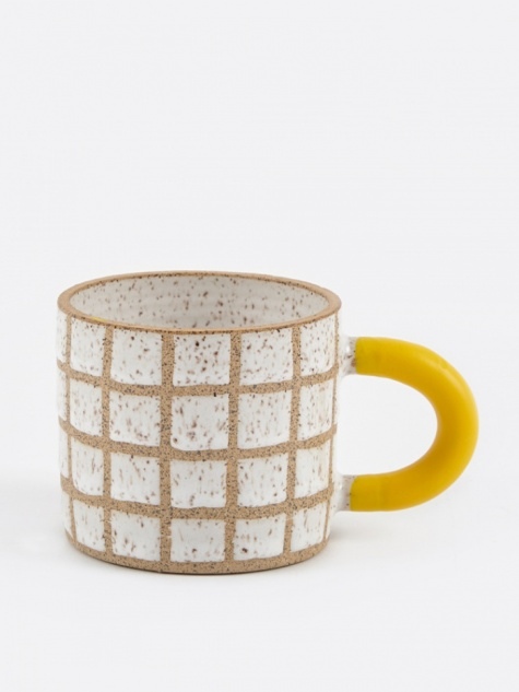 Rubber-Dipped Grid Mug