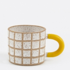 Recreation Center Rubber-Dipped Grid Mug