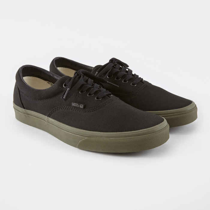 Vans Era - Black/Ivy Green (Image 1)