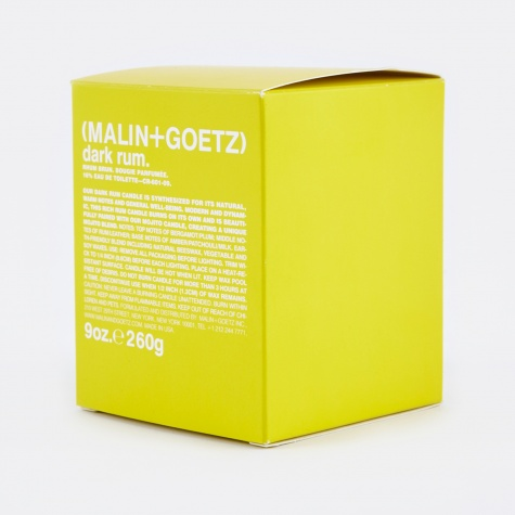 Malin & Goetz Scented Candle - Dark Rum