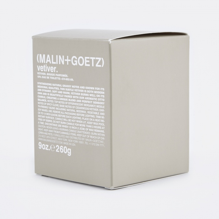 Malin + Goetz Malin+Goetz Scented Candle 260g - Vetiver (Image 1)