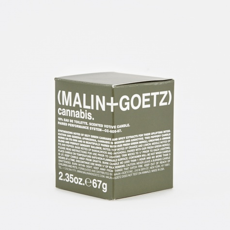 Malin & Goetz Scented Candle S - Cannabis