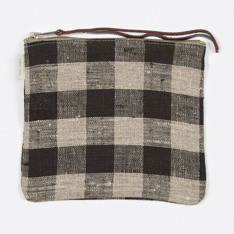 Canna Pouch Black Natural Check - Medium