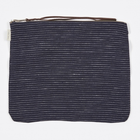 Canna Pouch Navy Pin Stripe - Large