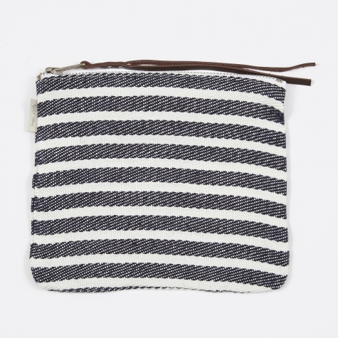 Canna Pouch Navy Border - Medium