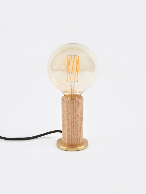 Oak Touch Lamp
