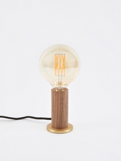 Walnut Touch Lamp