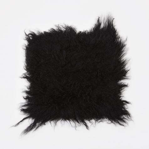 Tibetan Sheep Cushion 'Lamb' - Black