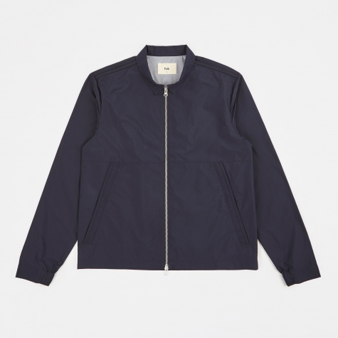 Nylon Box Jacket - Navy