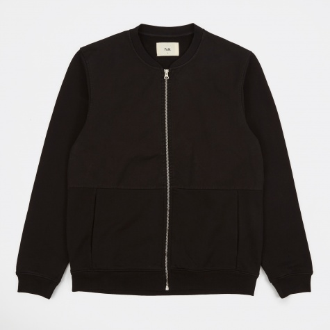 Jersey Bomber Jacket - Black
