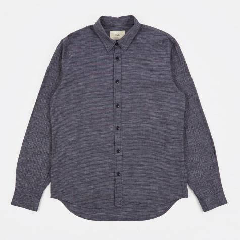 Micro Stripe Shirt - Navy Micro Stripe