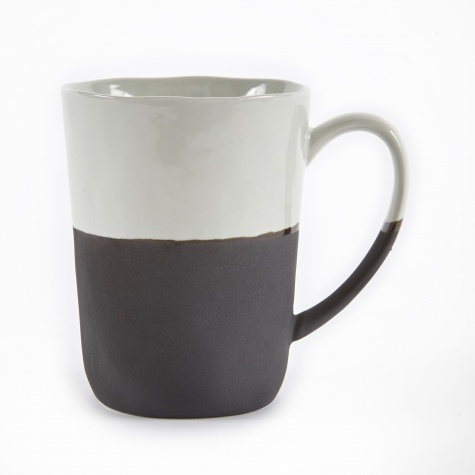 Mug With Handle 'Esrum' Stoneware - Ivory/Brown