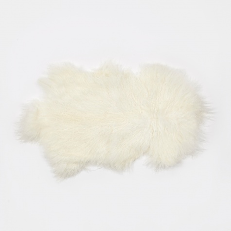 Tibetan Sheepskin Rug 'Lamb' - White