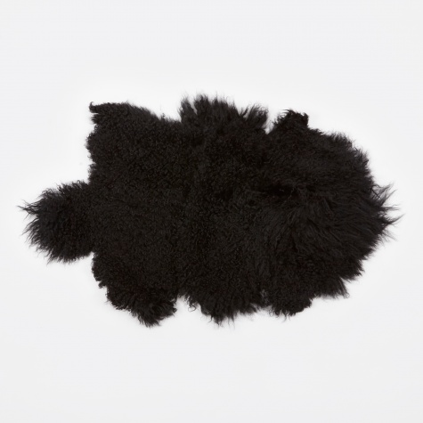 Tibetan Sheepskin Rug 'Lamb' - Black