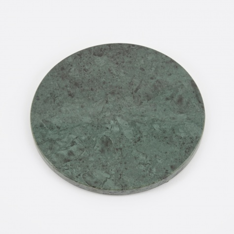 Small Round Marble Plate - Green