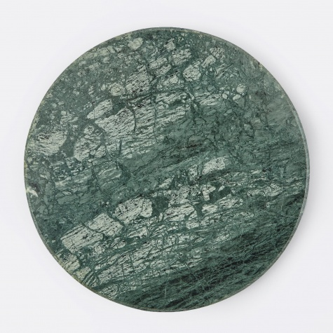Large Round Marble Plate - Green