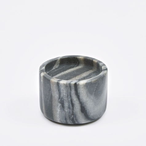 Candle Holder 'Lova' Marble Ø9x6cm - Black