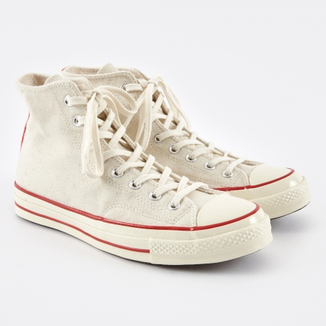 1970s Chuck Taylor All Star Hi Wool - Egret/Flame Scarl