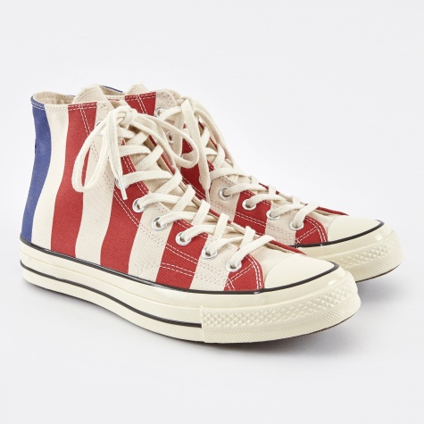 1970s Chuck Taylor All Star Hi - Egret/Varsity Red/Roya