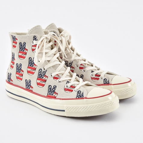 1970s Chuck Taylor All Star Hi Election Day - Red/Navy/