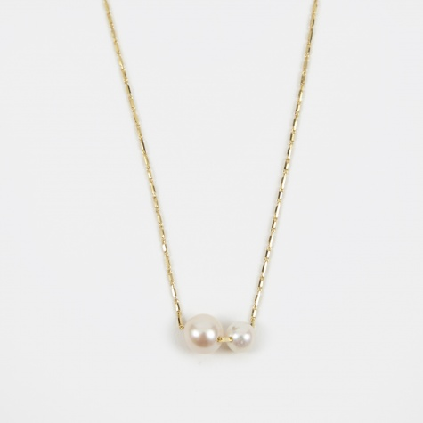 Pearly Grovel Necklace - 18K Yellow Gold/Fresh Water P