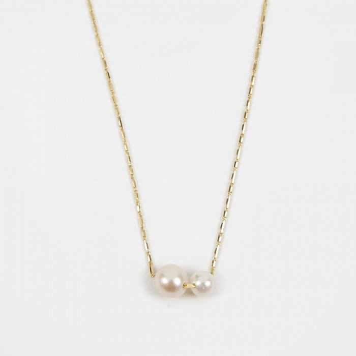 Lucy Folk Pearly Grovel Necklace - 18K Yellow Gold/Fresh Water P (Image 1)